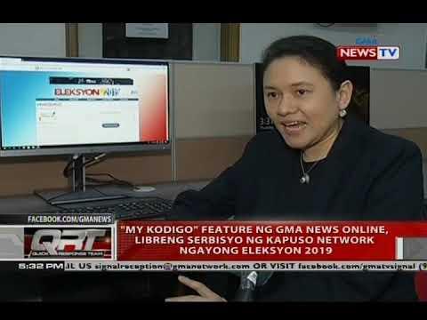 QRT: 'My Kodigo' feature ng GMA News Online,libreng serbisyo ng Kapuso Network ngayong Eleksyon 2019