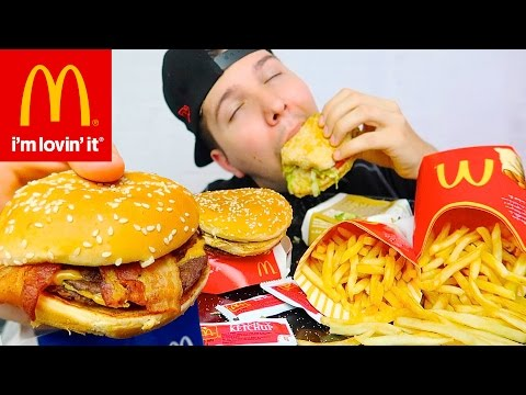 McDonald's Burgers & Fries • MUKBANG