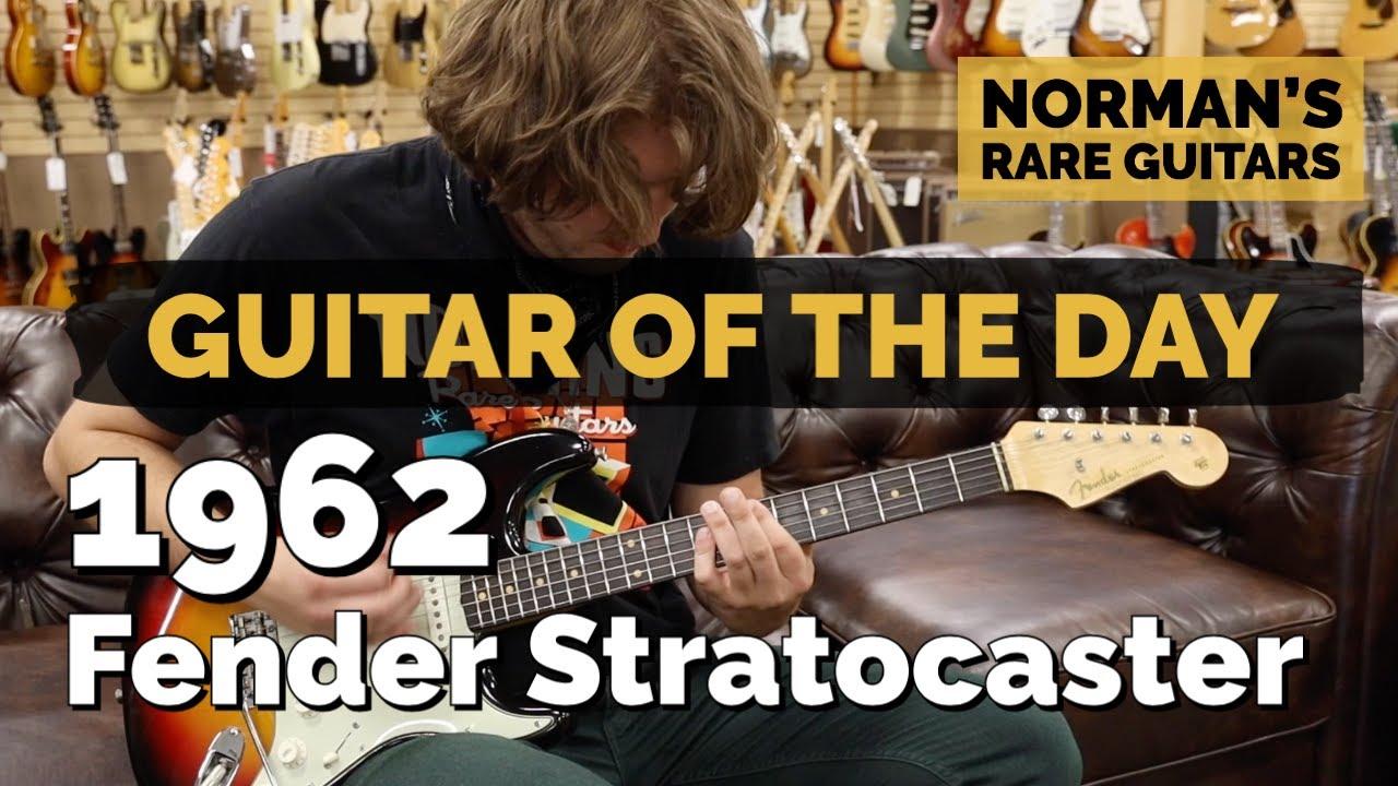 Guitar of the Day: 1962 Fender Stratocaster Sunburst   Norman's Rare Guitars