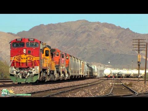 TRAINS on Parade! New BNSF power runs the Needles sub