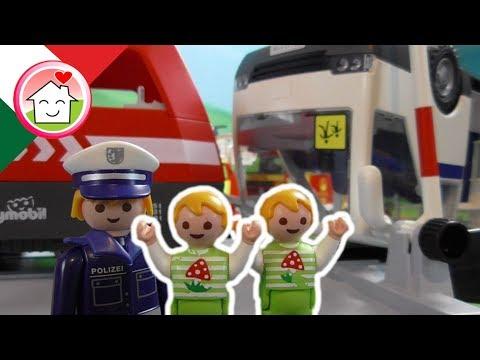 Playmobil film italiano L'incidente Ferroviario - La famiglia Hauser - Playmobil treno