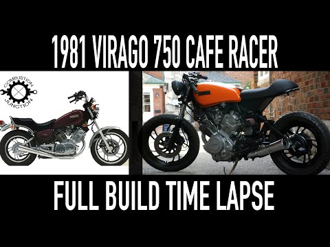 CAFE RACER BUILD, '81 YAMAHA VIRAGO, FULL GARAGE BUILD TIME LAPSE