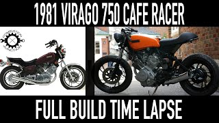 CAFE RACER BUILD, '81 YAMAHA VIRAGO, FULL GARAGE BUILD TIME LAPSE