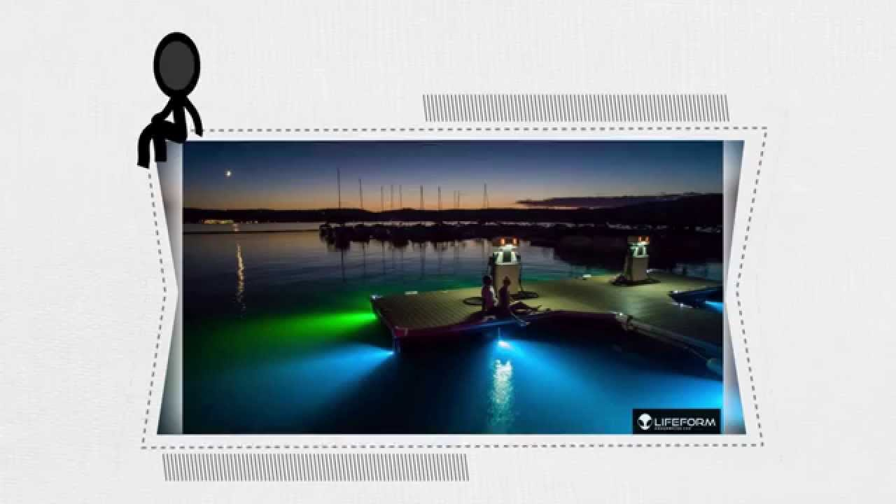 spectacular underwater led dock lights from lifeform led - youtube, Reel Combo