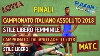 LOTTA CAMPIONATO ITALIANO ASSOLUTO SL FEMM. - CADETTI SL 2018 - FASI FINALI - MAT C