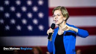 Elizabeth Warren delivers closing remarks at Iowa City town hall (12.2.19)