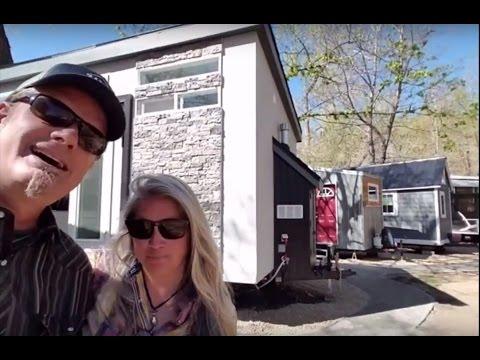 Greg and Jenn at WeeCasa Lyons, CO - The Om Ah Tiny House