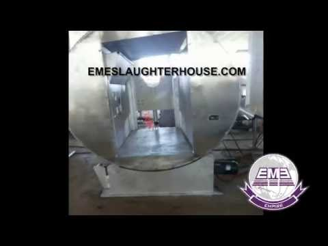 High-quality Halal Cattle Slaughterhouse Equipment Killing Box BY EME Abattoir Machinery Factory