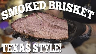 Brisket done Texas Style in White Paper on the Traeger Pellet Smoker