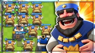 INFINITE SPAWNERS! HILARIOUS GOBLIN HUT TROLL DECK in Clash Royale!