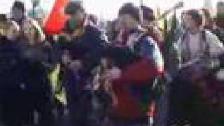 Tribal Music War Protest March GLasgow Film -13:20 part 1