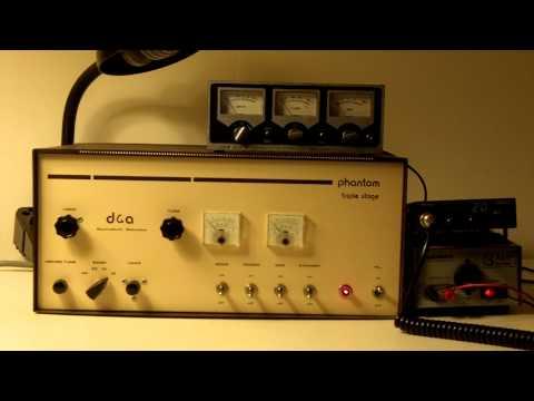 Mint condition 10 tube D&A Phantom amplifier - YouTube