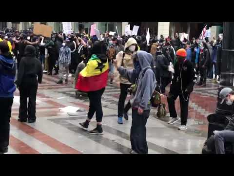 Downtown Seattle Protests Intensify Saturday In Wake Of George Floyd Death