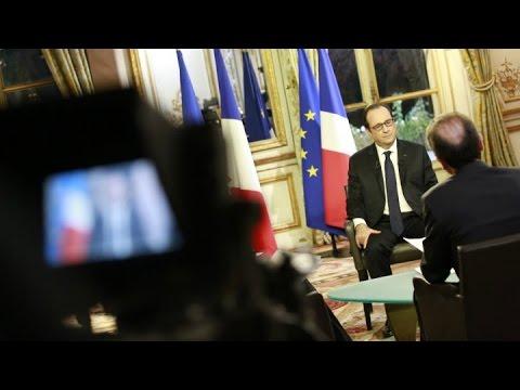 François Hollande en interview exclusive avec FRANCE24, RFI et TV5 Monde