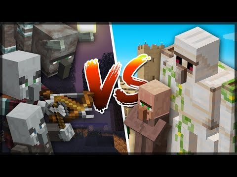 ✔ MINECRAFT 1.14 - VILLAGER vs PILLAGER - Who win this battle?