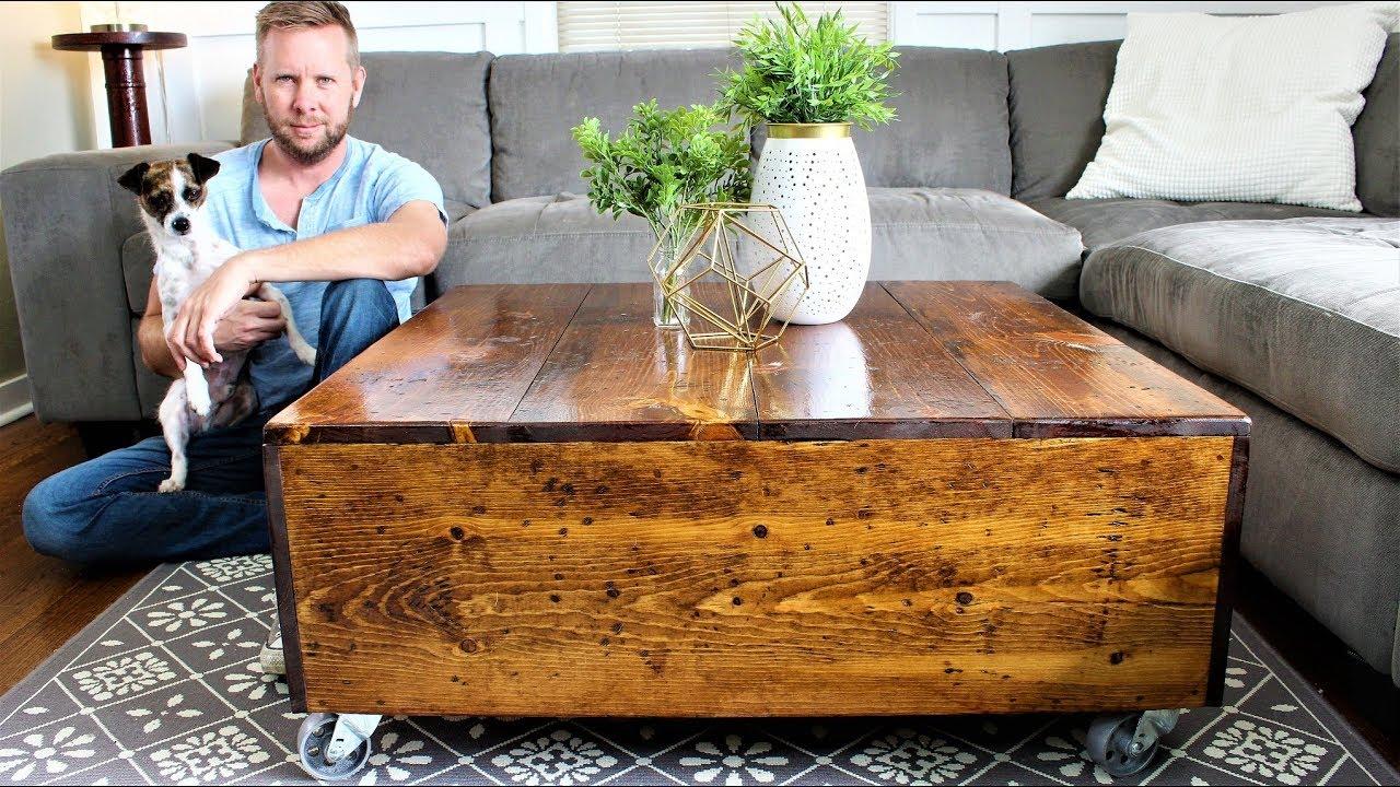 modern farmhouse coffee table easy diy project