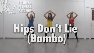 zumba fitness class with lauren hips don t lie bambo