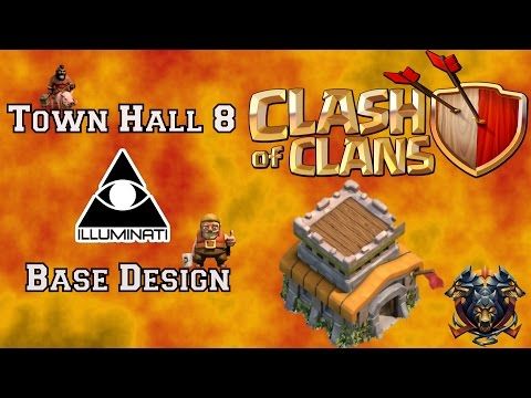 Town Hall 8 Illuminati Base Design| Speed Build| New update