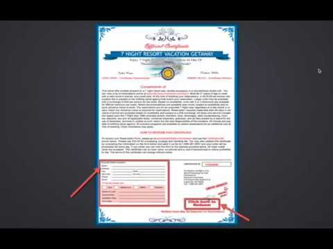 How to get a resort vacation certificate | Free vaction certificates ...