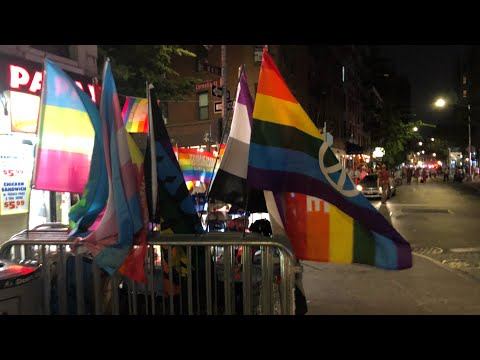 ⁴ᴷ⁶⁰ Walking NYC : Walking Greenwich Village At Night During 50th Anniversary Of Stonewall Riots