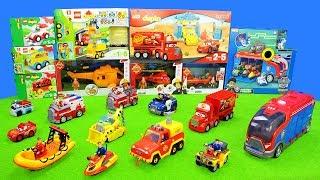 Spielzeug: Feuerwehrmann Sam, Lego Duplo & Paw Patrol   Spielzeugautos Kinderspielzeugset Unboxing