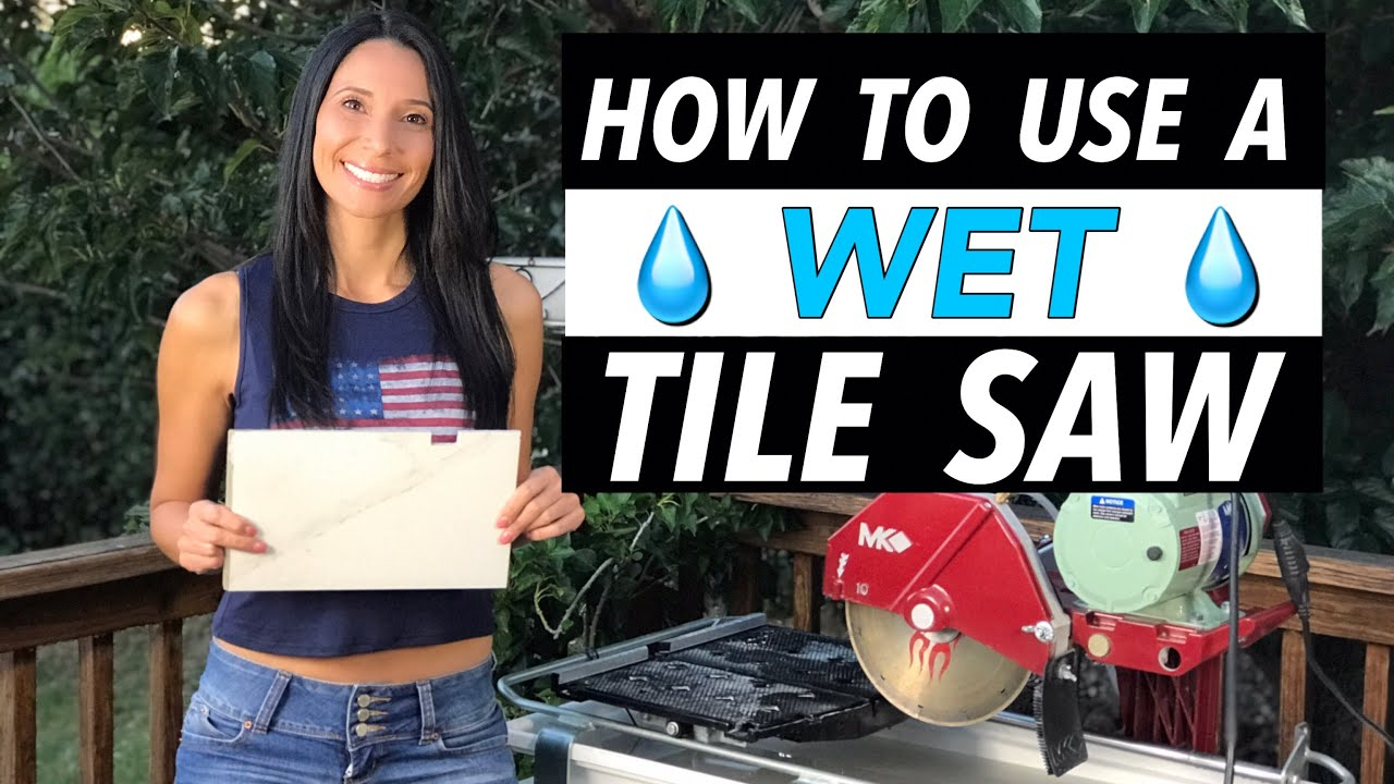 how to use a tile saw