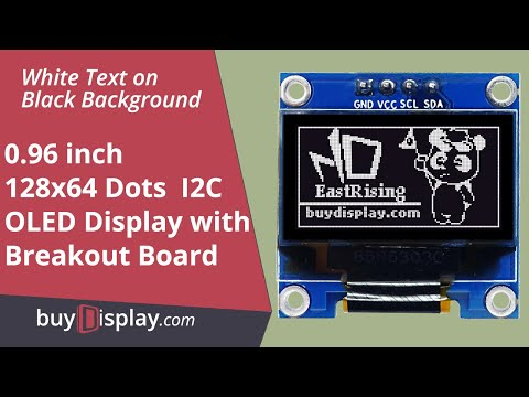 "Connect I2C White 0.96"" inch OLED Display Module 128x64 to Arduino,Raspberry Pi"