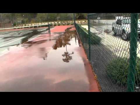 Pressure Wash a Tennis & Basketball Court