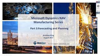 Dynamics NAV Manufacturing Series - Part 3: Forecasting and Planning