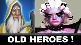 Dota 2 OLD Hero portraits VS NEW!