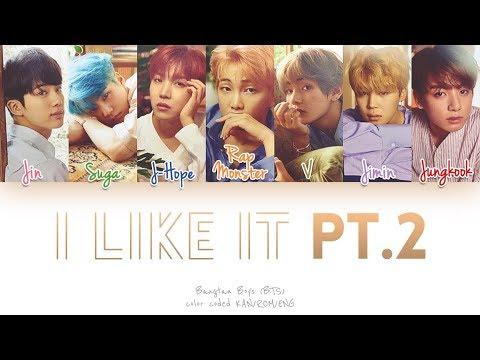 BTS (방탄소년단) - Like It Pt. 2 (좋아요 Part 2) (Color Coded Kan|Rom|Eng Lyrics)
