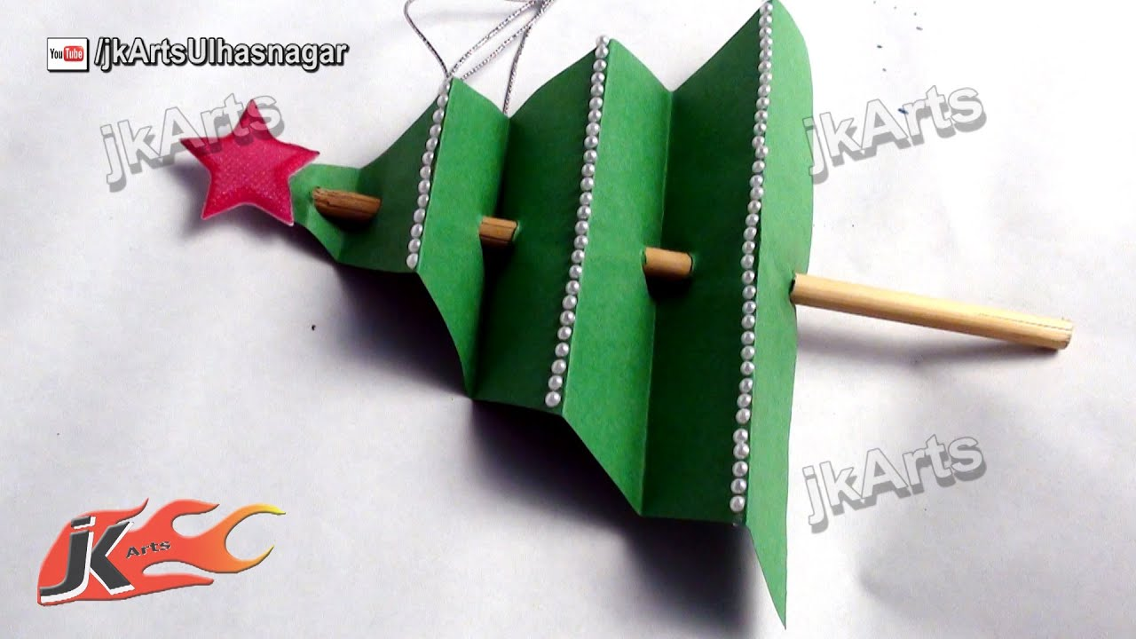 How to make paper christmas tree diy christmas for How to make paper christmas decorations at home
