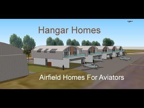 Hangar Homes - Airfield Homes With Hangars For Aviators Creating Airfield Communities