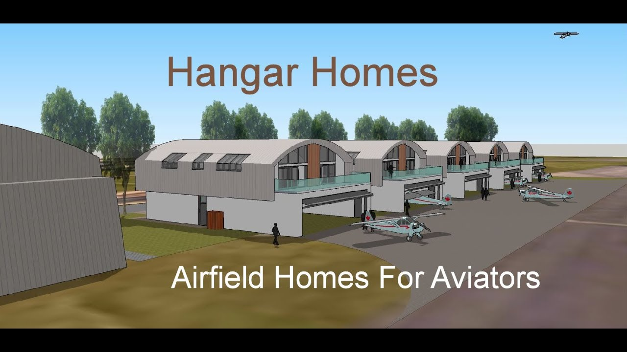 Hangar homes airfield homes with hangars for aviators for Aircraft hangar home designs