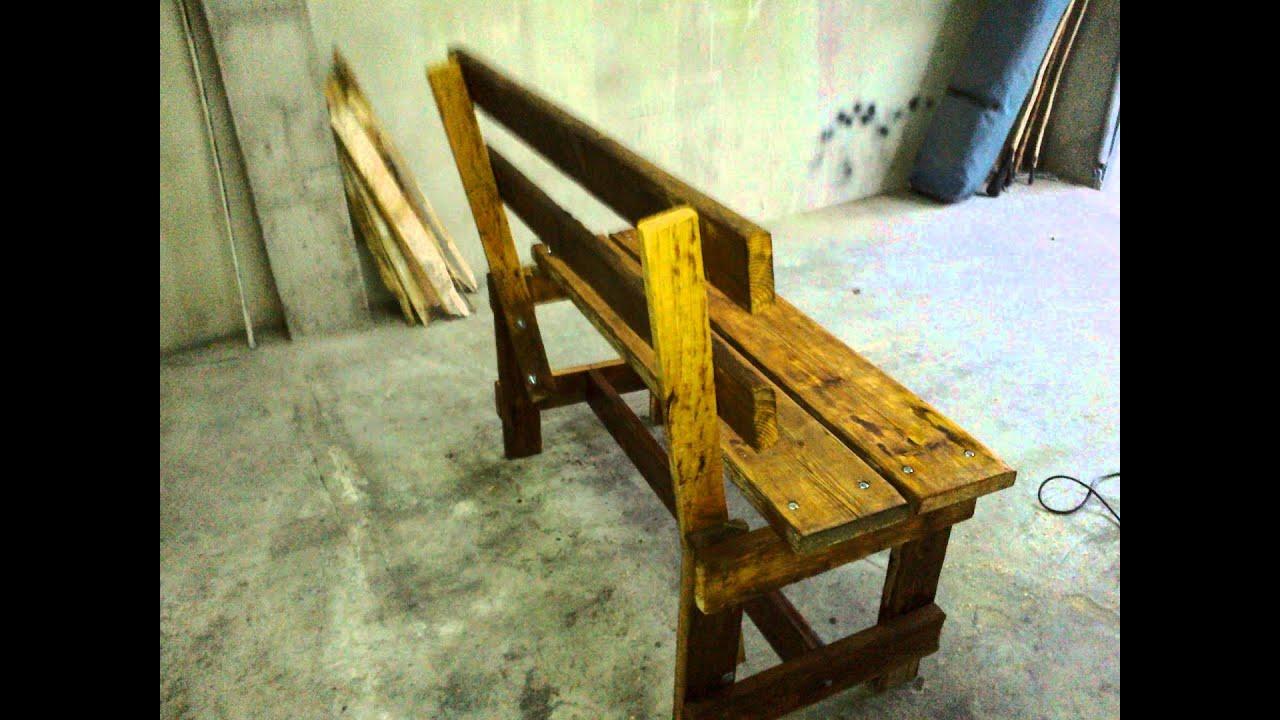 Bancos de palets de madera jardines verticales hechos con - Hacer un banco con palets ...