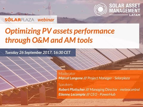 Optimizing PV assets performance through O&M and AM tools