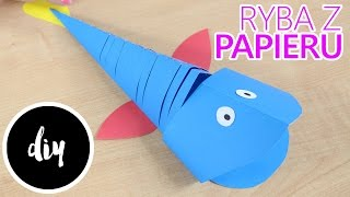 DIY - Kreatywne Czwartki - Jak wykonać Ruchomą Rybkę z Papieru? / How to make a Moving Paper Fish?