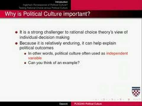why is political culture important