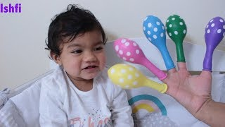 Baby Radia Learn Colors with Polka dot Balloon and Finger Family Song