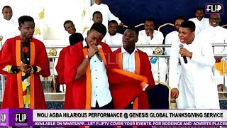 WOLI AGBA AND SON DELE DROP HILARIOUS JOKES  GENESIS GLOBALS THANKSGIVING SERVICE FOR MUM