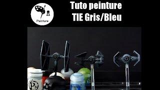 X-WING LE JEU DE FIGURINES: Tuto peintureTIE Gris/Bleu