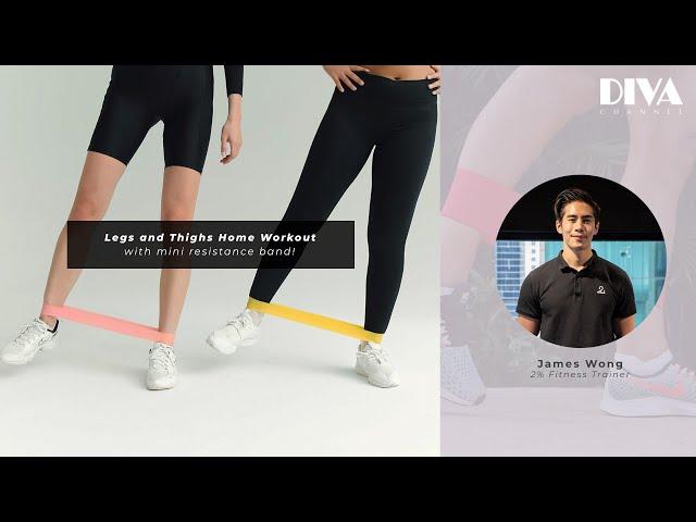 一條輕巧橡筋帶,鍛練大腿超有感!三個橡筋帶負重Home workout動作示範!