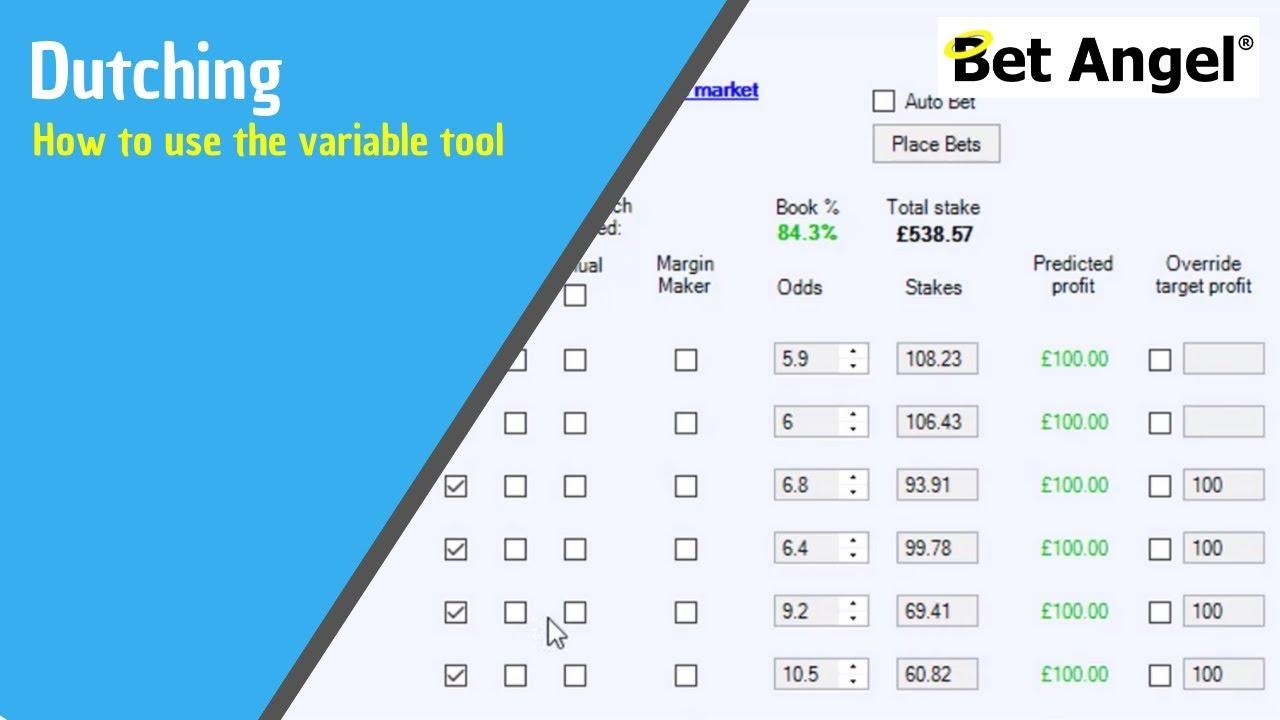 Betting tips - Advanced Dutching calculator on Bet Angel - YouTube