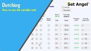 Bet Angel's - Advanced variable dutching calculator