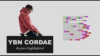 YBN Cordae - Wintertime - Verse 1 - Lyrics, Rhymes Highlighted (066)