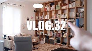 【VLOG.32】平凡一日 | 书架Tour | 韩式五花肉泡菜锅 | 一起拼乐高