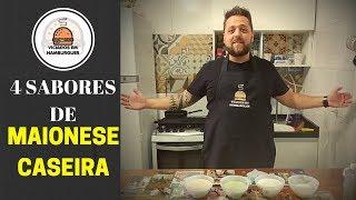 4 sabores de maionese caseira viciados em hambúrguer