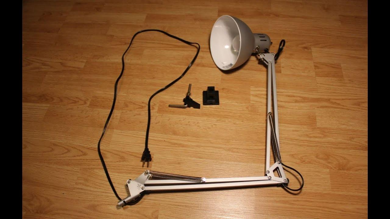 Ikea TERTIAL review - $9 work lamp - YouTube
