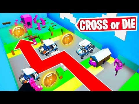 Fortnite CROSS The DEADLY Road Or DIE! (Fortnite Creative)
