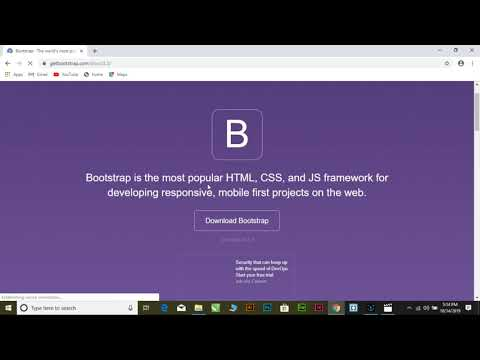 How to download Bootstrap tutorial thumbnail